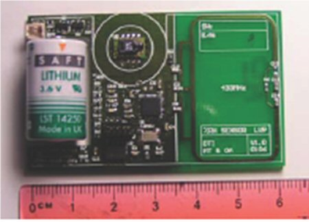 Photo of a wireless sensor